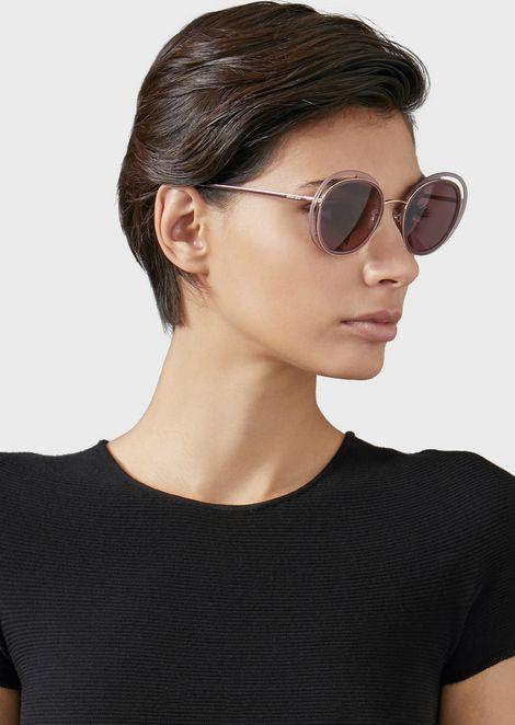 Солнцезащитные очки Open Lenses с круглой оправой