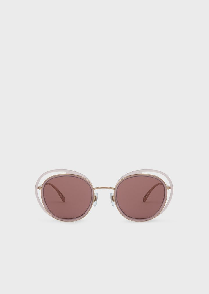 44e95cecd9f5 Sunglasses with round Open Lenses frame