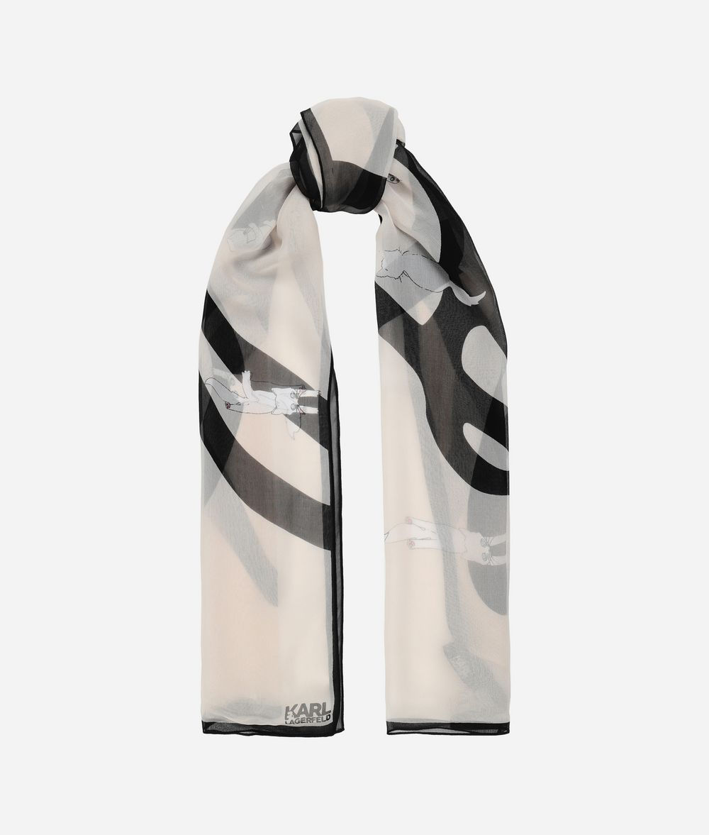 KARL LAGERFELD K/Signature Choupette Scarf Scarf Woman r