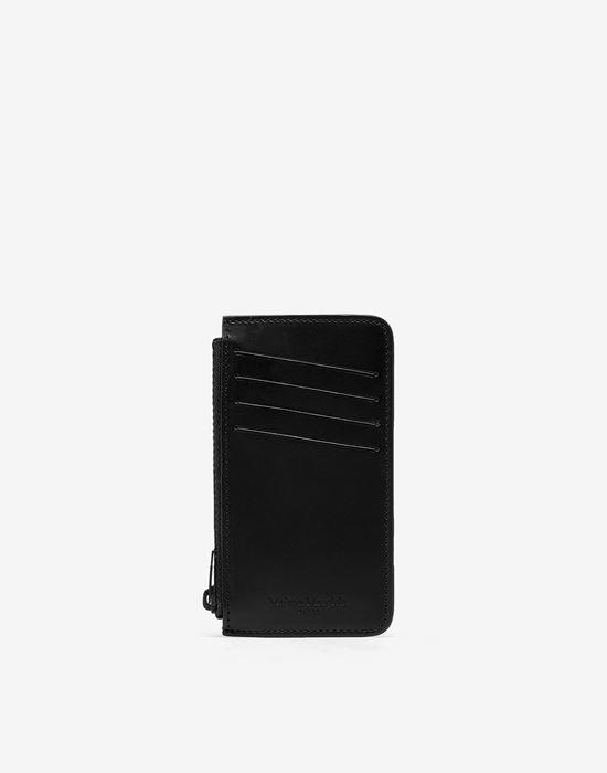 MAISON MARGIELA Logo tab reflective leather wallet Wallet [*** pickupInStoreShippingNotGuaranteed_info ***] f