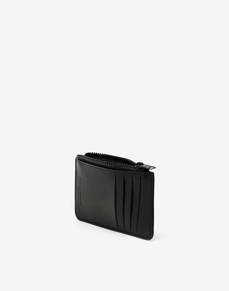 MAISON MARGIELA Logo tab reflective leather wallet Wallets Man d