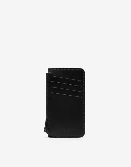MAISON MARGIELA Logo tab reflective leather wallet Wallets Man f