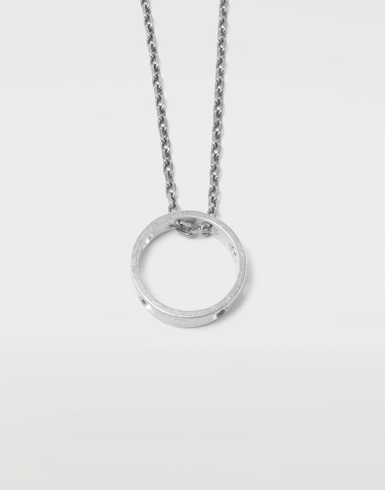 MAISON MARGIELA Perforated ring pendant Necklace [*** pickupInStoreShippingNotGuaranteed_info ***] d