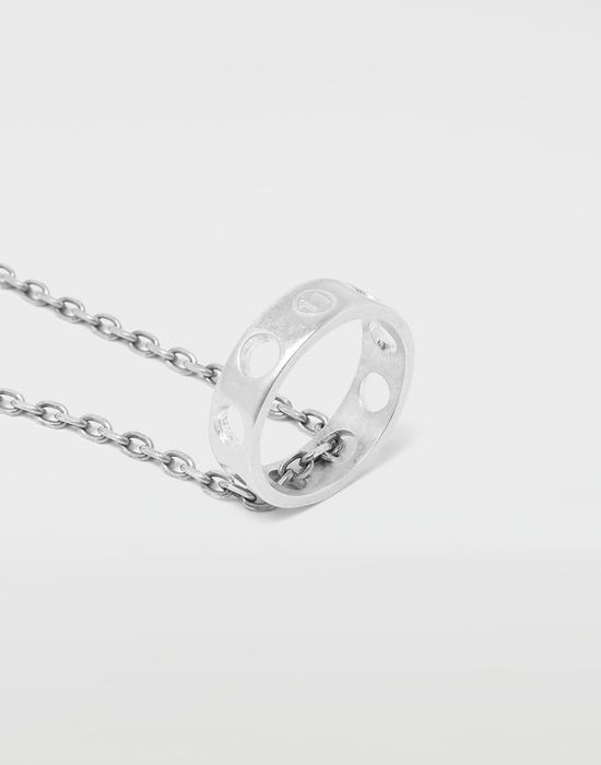 MAISON MARGIELA Perforated ring pendant Necklace [*** pickupInStoreShippingNotGuaranteed_info ***] e