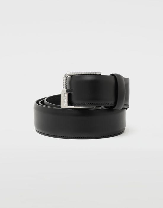 MAISON MARGIELA Slim leather buckle belt Belt [*** pickupInStoreShippingNotGuaranteed_info ***] f