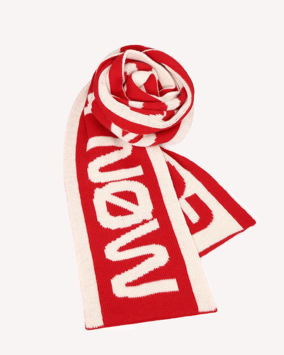 "REDValentino ""Follow Me Now"" jacquard wool maxi scarf"