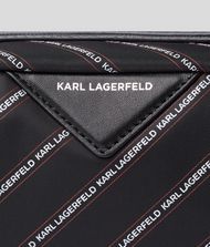 KARL LAGERFELD K/Stripe Logo Toiletries Case 9_f