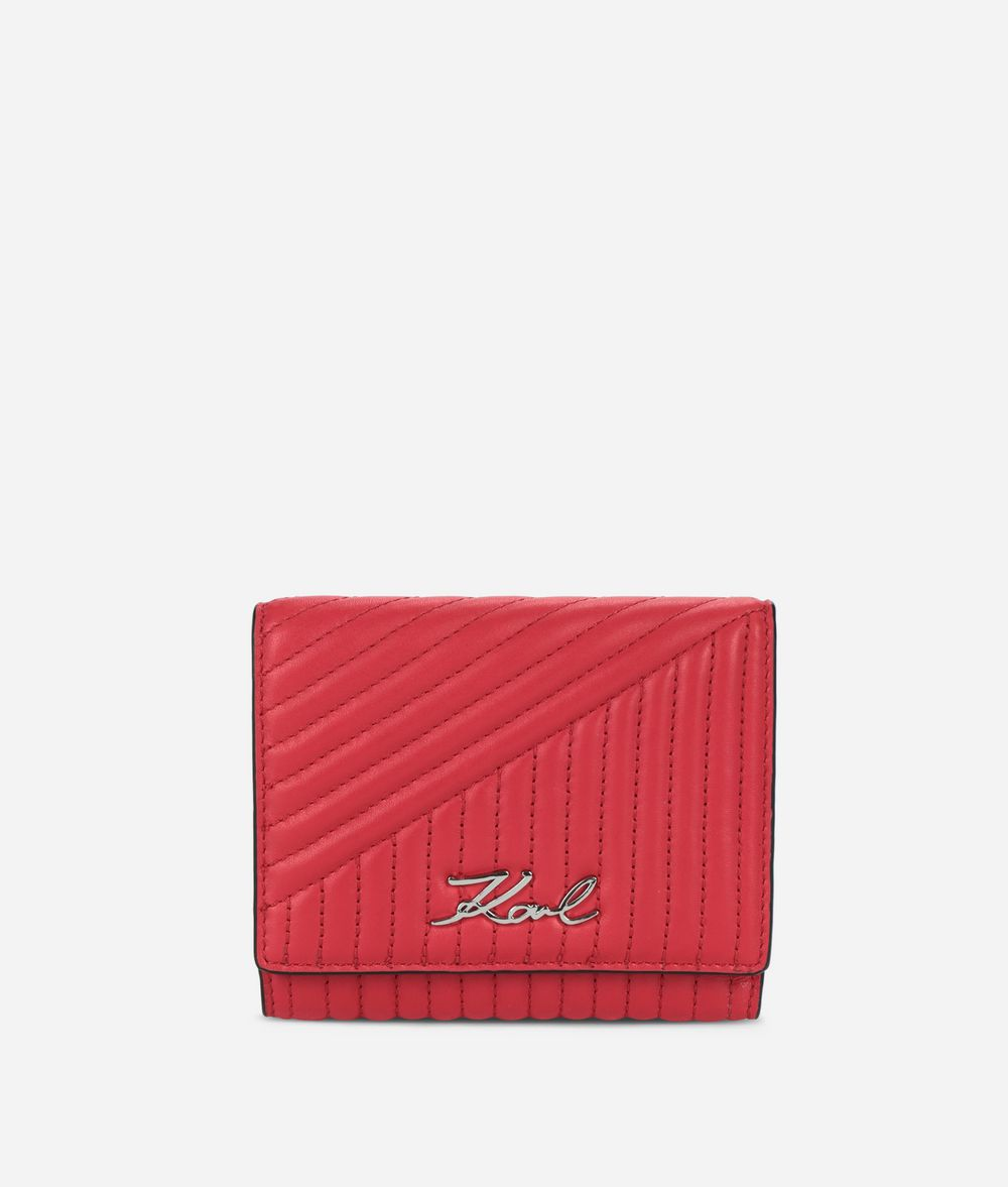 KARL LAGERFELD K/Signature Quilted portefeuille Portefeuille Femme f