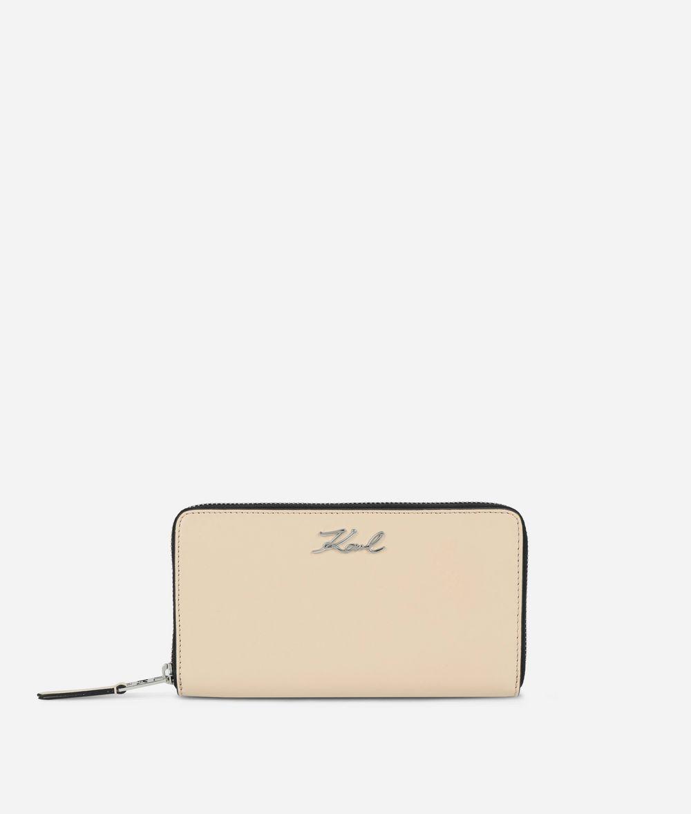 KARL LAGERFELD K/Signature Zip-Around Wallet Wallet Woman f