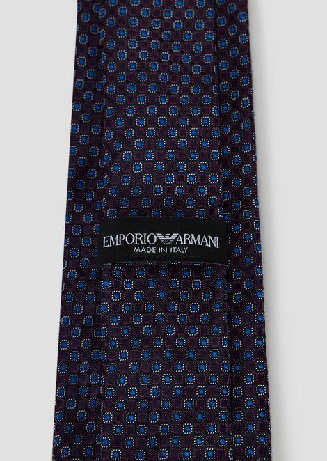 Corbata de seda pura con fantasía multicolor