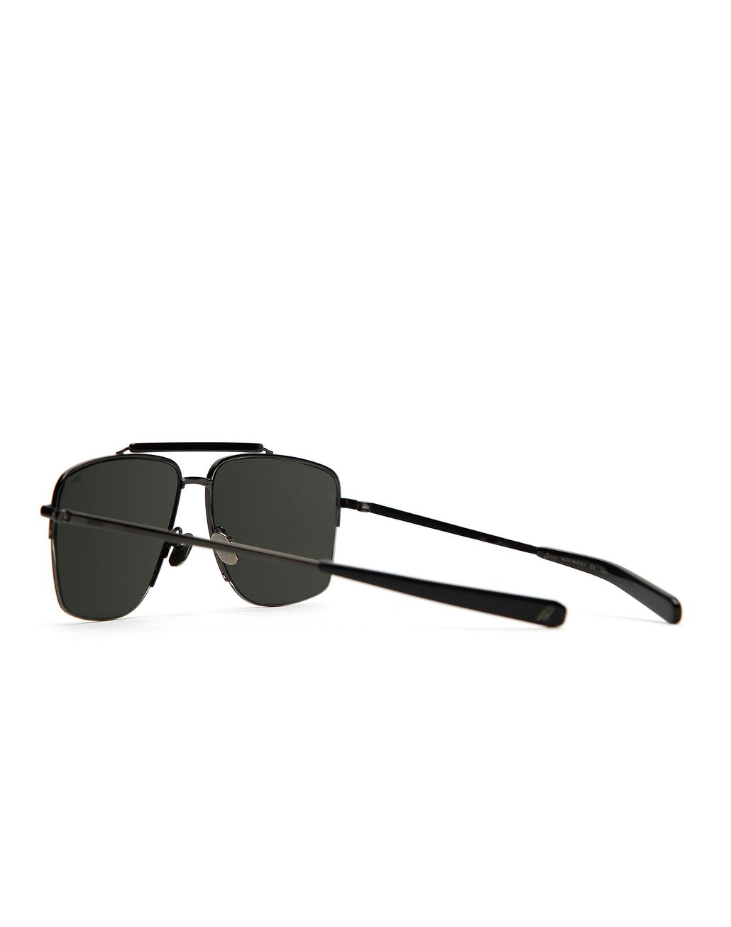 BRIONI Gunmetal and Black Caravan Sunglasses with Grey Lenses Sunglasses [*** pickupInStoreShippingNotGuaranteed_info ***] d