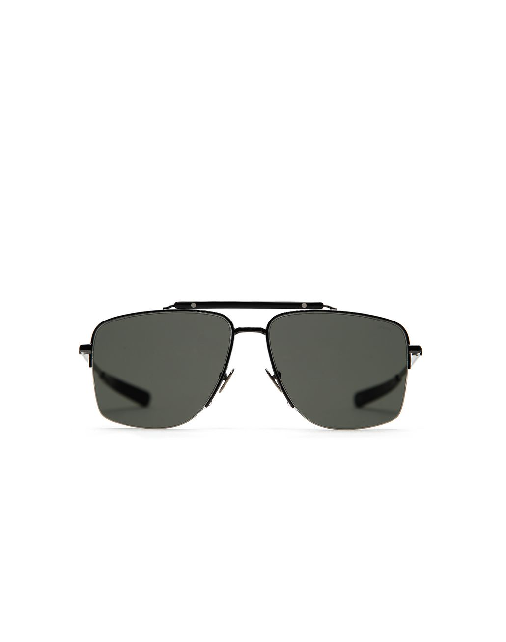 BRIONI Gunmetal and Black Caravan Sunglasses with Gray Lenses Sunglasses Man f