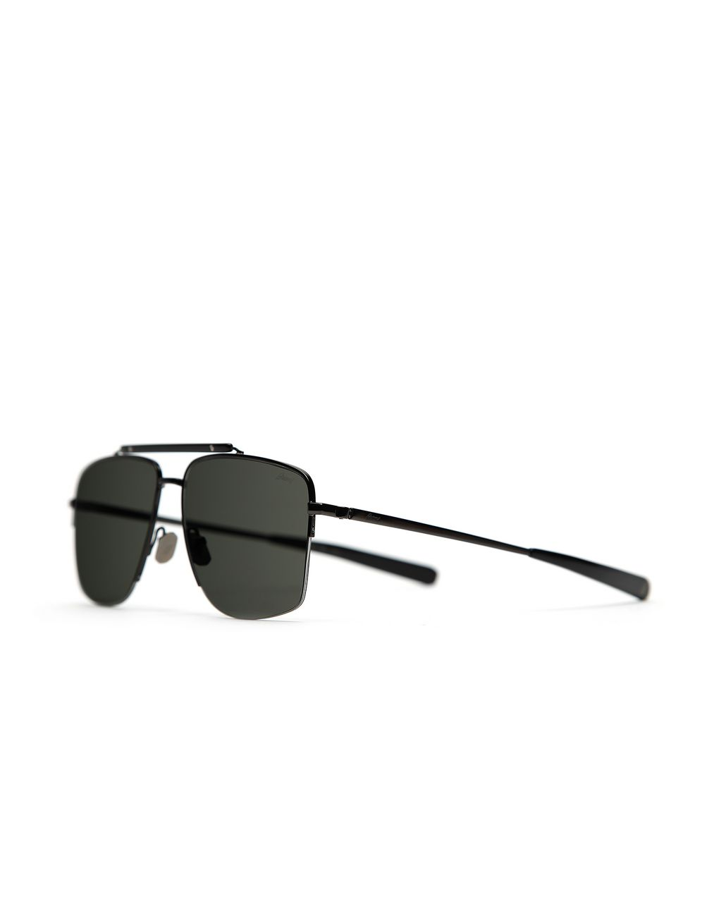 BRIONI Metal Gun and Black Caravan Sunglasses with Grey Lenses Sunglasses [*** pickupInStoreShippingNotGuaranteed_info ***] r