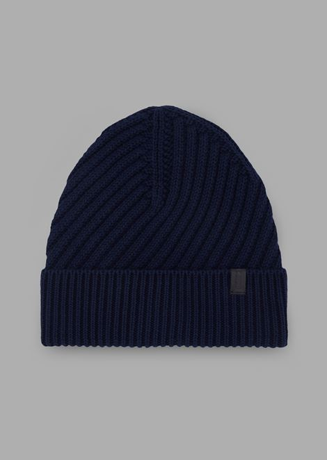 Cotton cuff hat with turnback
