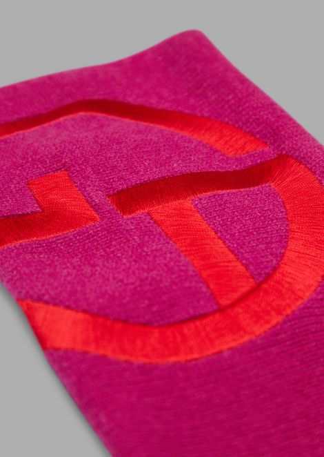 Cashmere band with embroidered logo