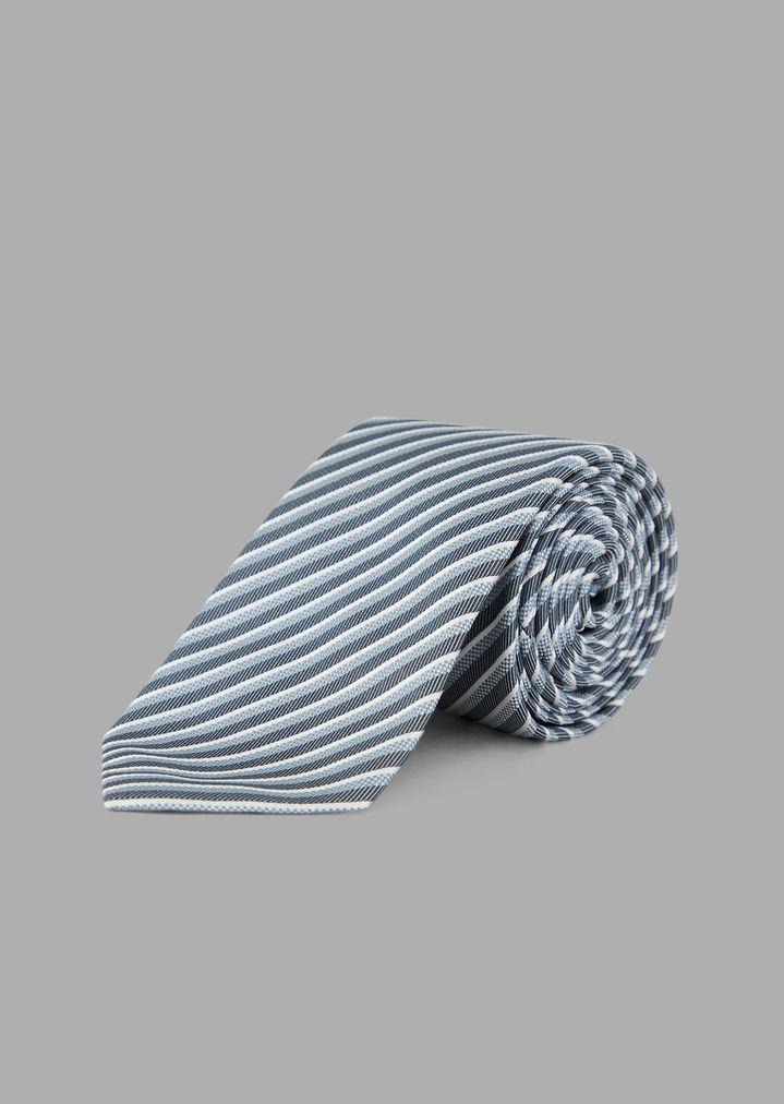 8b6f6306df0b Silk tie with regimental pattern | Man | Giorgio Armani