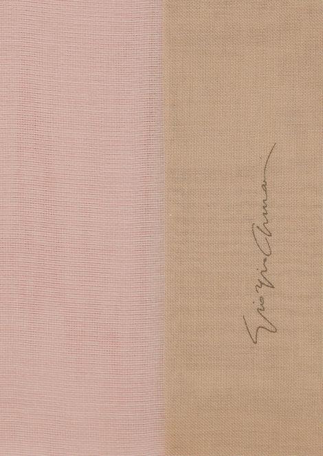 Voile stole in graduated colours with the Giorgio Armani signature