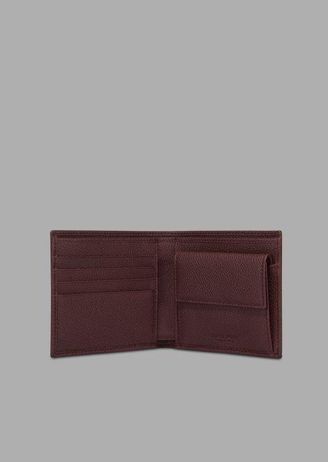 Bifold wallet in grained calfskin