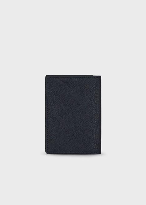 Grainy leather card holder