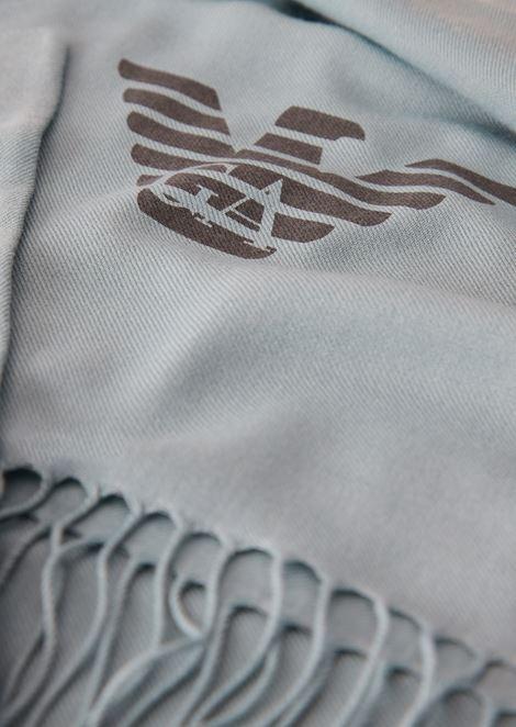 Stola mit Fransen und Emporio Armani-Logo