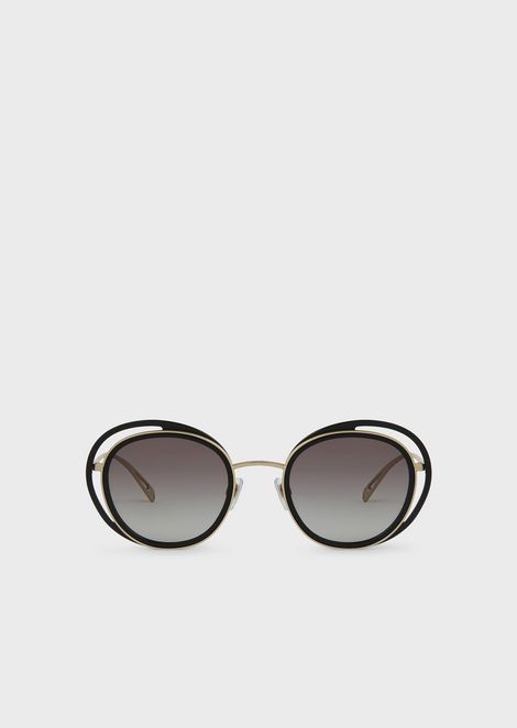Sunglasses with round Open Lenses frame