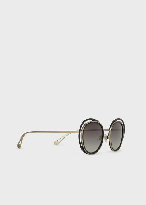 Occhiali da sole con montatura tonda Open Lenses