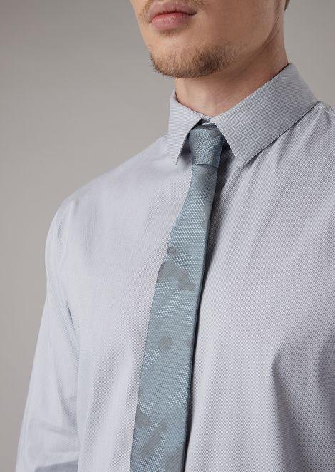 Cravatta in seta occhio di pernice effetto camouflage