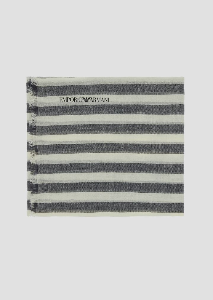 deb654a56b Stole in fresh wool in colored stripes