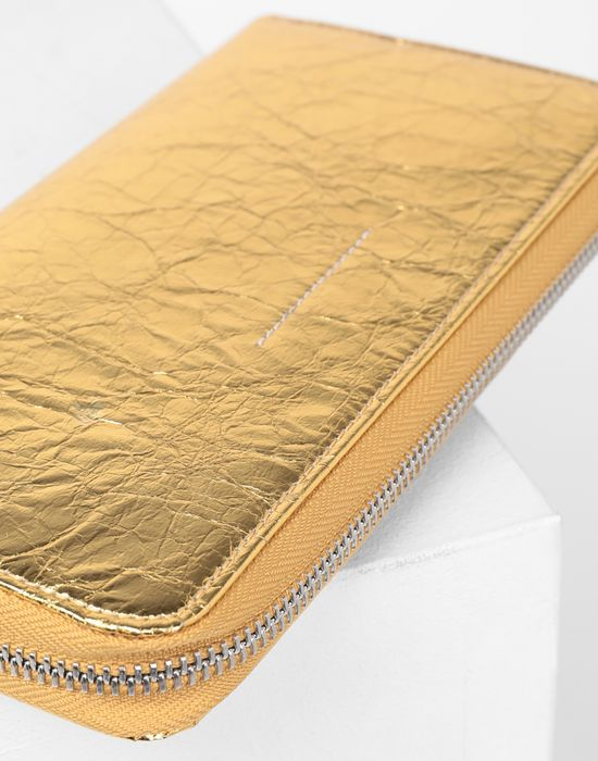 MM6 MAISON MARGIELA Crinkled leather zip long wallet Wallets [*** pickupInStoreShipping_info ***] d
