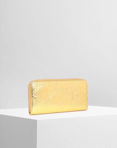 MM6 MAISON MARGIELA Crinkled leather zip long wallet Wallets Woman r