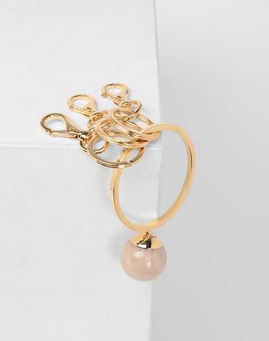 ACCESSORIES Marble ball keyring Gold