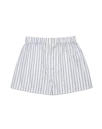 White Striped Short Boxer