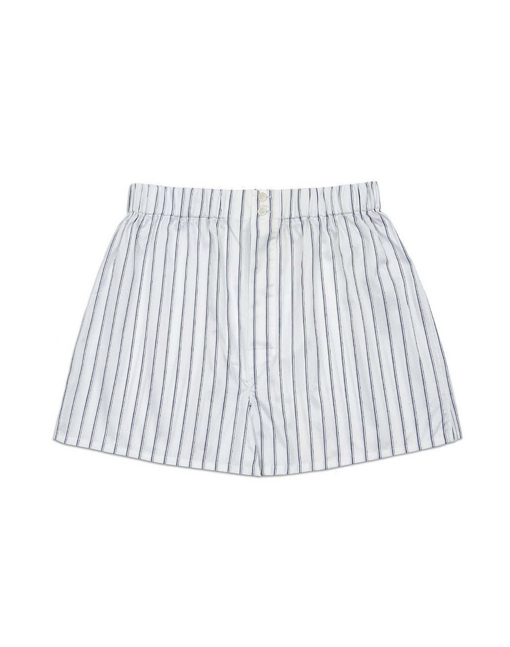 BRIONI White Striped Short Boxer Underwear Man f