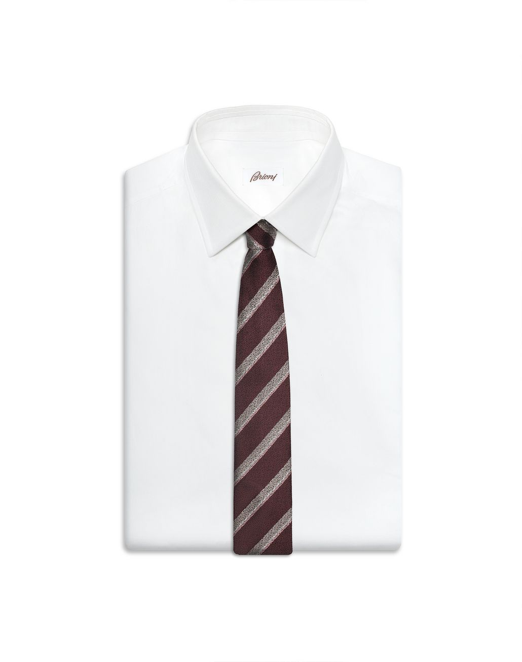 BRIONI Bordeaux Regimental Tie Tie Man e