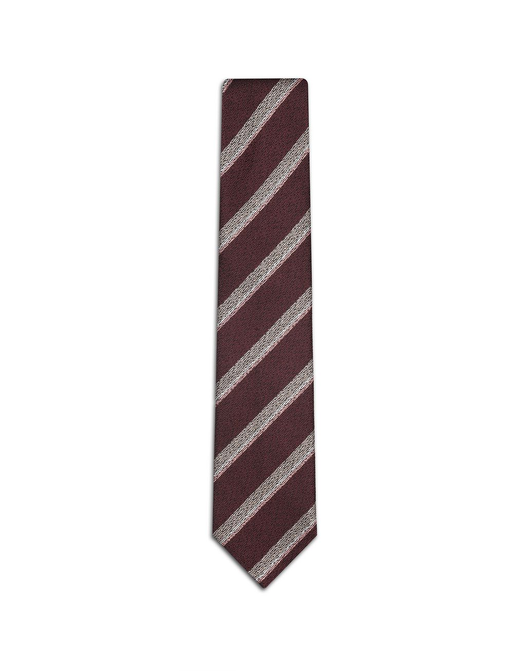 BRIONI Bordeaux Regimental Tie Tie [*** pickupInStoreShippingNotGuaranteed_info ***] f