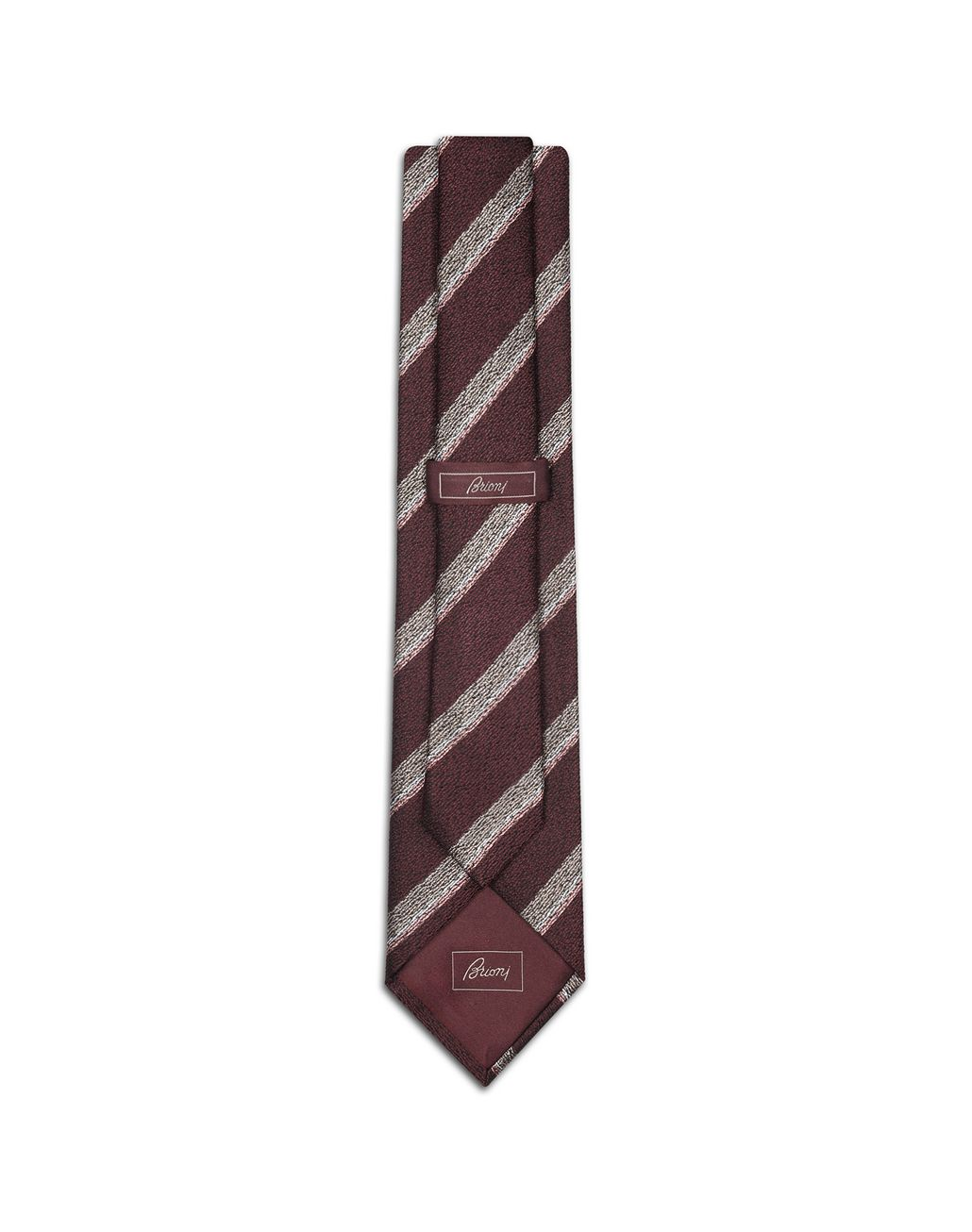 BRIONI Bordeaux Regimental Tie Tie Man r