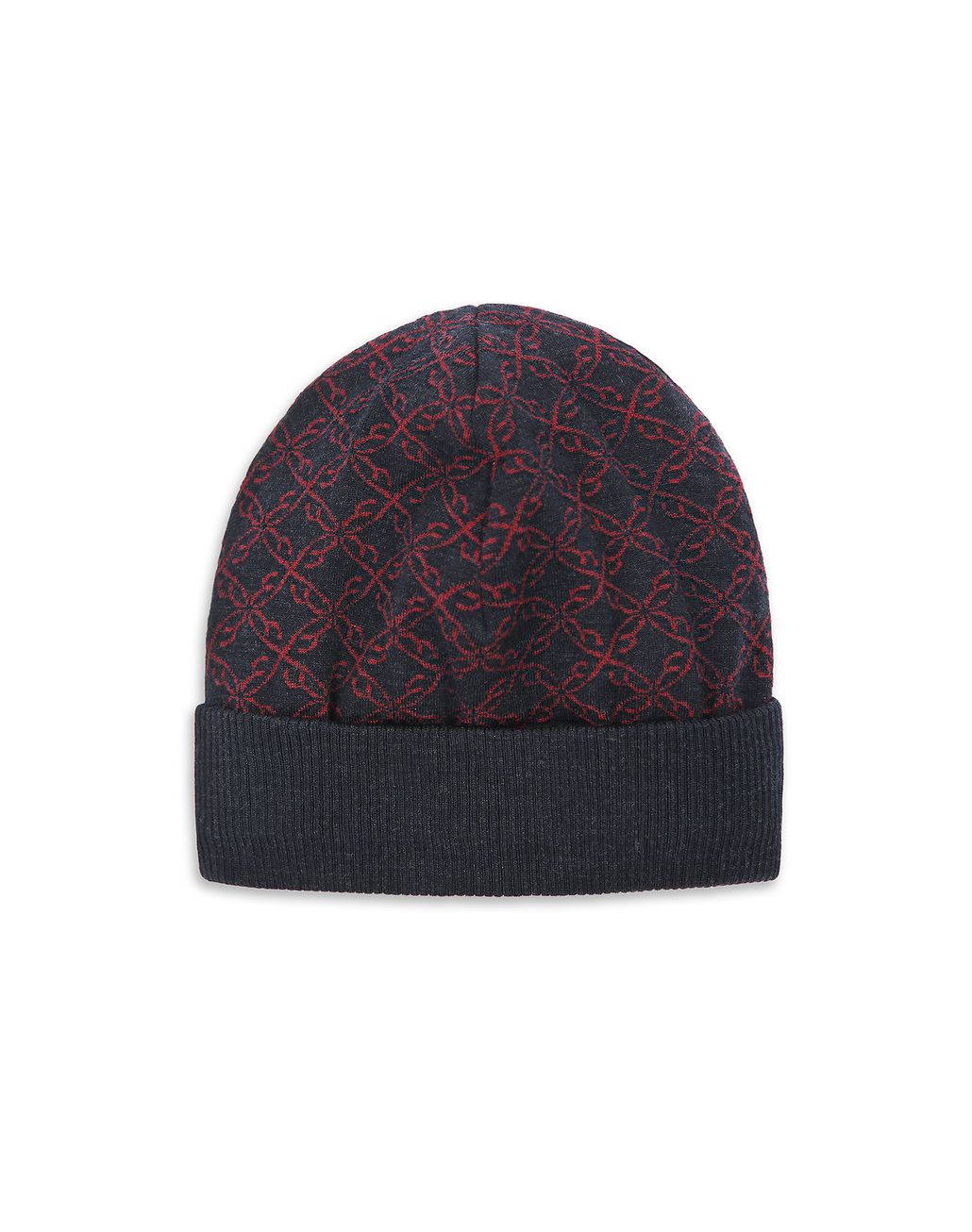 BRIONI Blue Logo Pattern Hat Hats & Gloves Man f