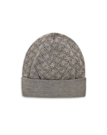 Grey Logo Pattern Hat