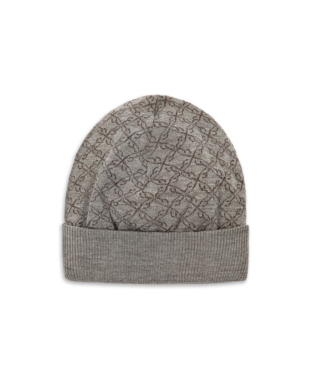 BRIONI Grey Logo Pattern Hat Hats & Gloves Man f
