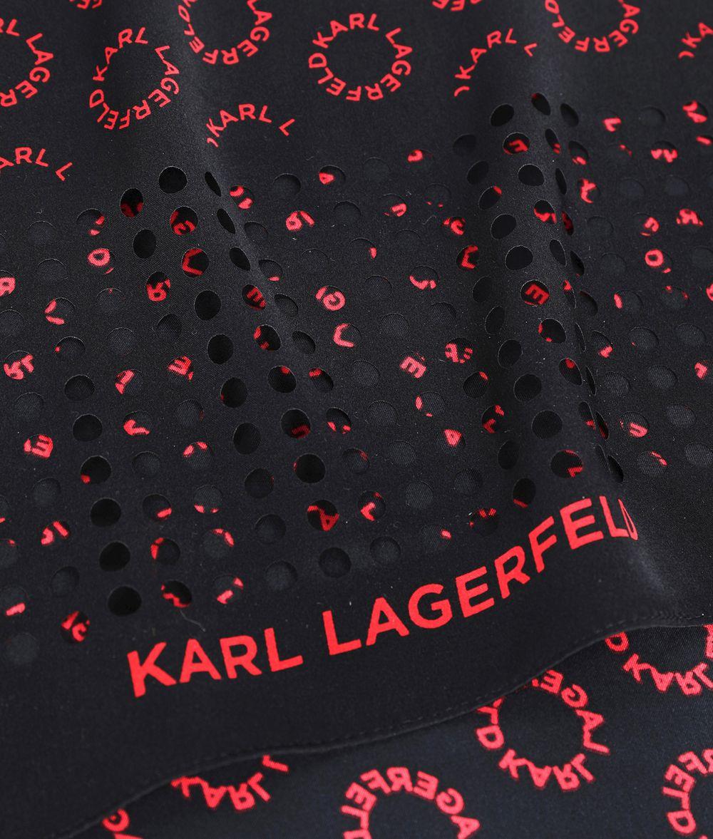 KARL LAGERFELD K/Logo Silk Scarf Scarf Woman r
