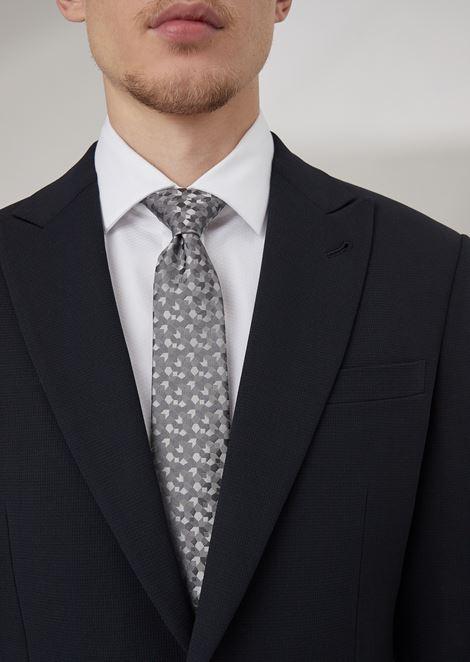 ネクタイ ジャカード刺繍ファブリック製 幾何学モチーフ