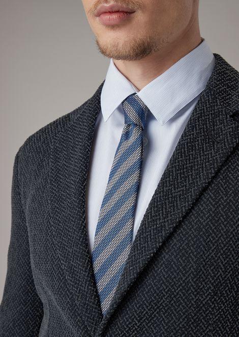 ネクタイ シルク製 レジメンタルストライプ