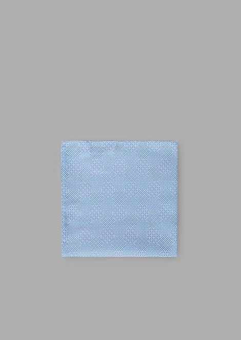 Pochette da taschino in pura seta a fantasia geometrica