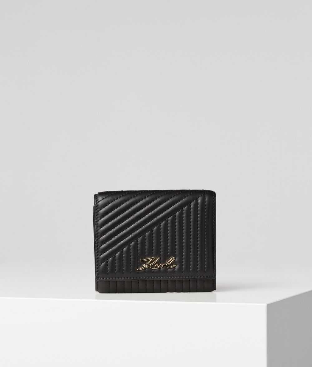 KARL LAGERFELD K/Signature Quilted Wallet Wallet Woman f