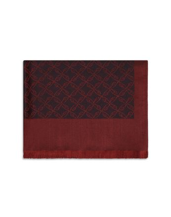 Bordeaux Logo Pattern Scarf
