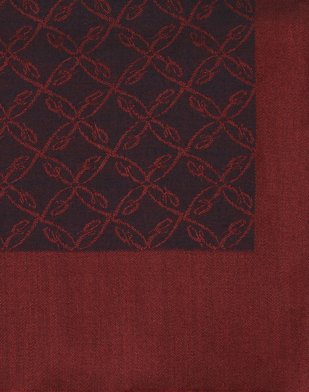 BRIONI Bordeaux Logo Pattern Scarf Foulards & Scarves Man d