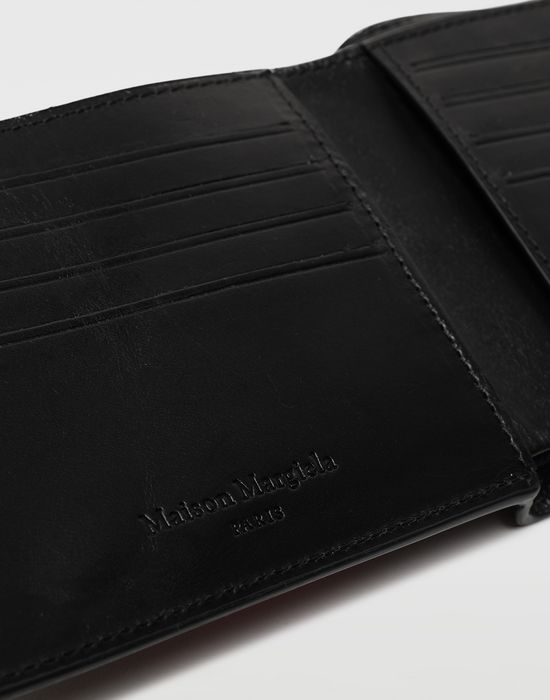 MAISON MARGIELA Embossed logo fold-out leather wallet Wallets [*** pickupInStoreShippingNotGuaranteed_info ***] a