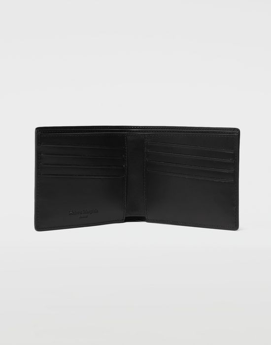MAISON MARGIELA Embossed logo fold-out leather wallet Wallets [*** pickupInStoreShippingNotGuaranteed_info ***] e
