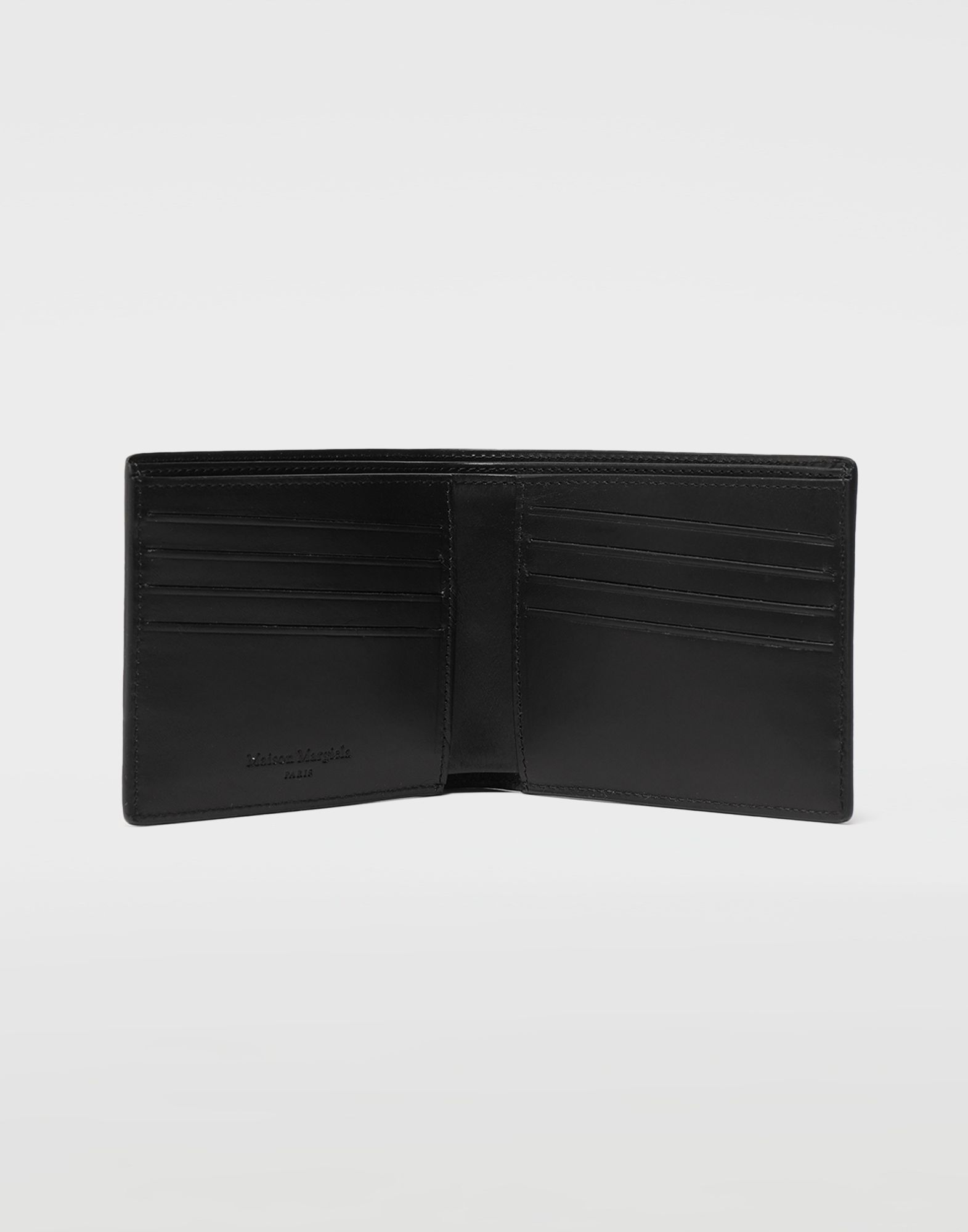 MAISON MARGIELA Embossed logo fold-out leather wallet Wallets Man e