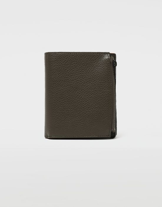 MAISON MARGIELA Large fold-out leather zipped wallet Wallet [*** pickupInStoreShippingNotGuaranteed_info ***] f